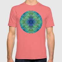 Lila's Flowers Repeat Bl… Mens Fitted Tee Pomegranate SMALL
