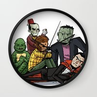 The Universal Monster Club Wall Clock