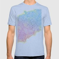 Swirling clouds in the heavens Mens Fitted Tee Athletic Blue SMALL