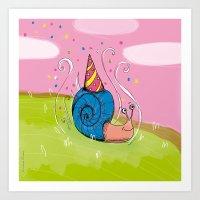 Petit escargot Art Print