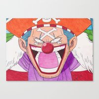 Buggy The Clown Canvas Print