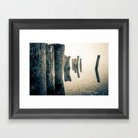Foggy Ocean Framed Art Print