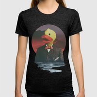 Rubber Ducky Womens Fitted Tee Tri-Black SMALL