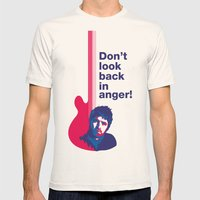 Noel Gallagher - Don't Look Back In Anger Mens Fitted Tee Natural SMALL