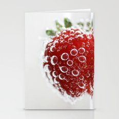 Bubble Strawberry Stationery Cards