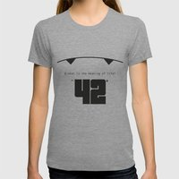 The Hitchhiker's Guide T… Womens Fitted Tee Tri-Grey SMALL