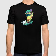 Pizza and Ranch SMALL Black Mens Fitted Tee