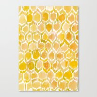 Golden Honeycomb Canvas Print