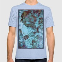 Blue Madonna and Child Mens Fitted Tee Athletic Blue SMALL