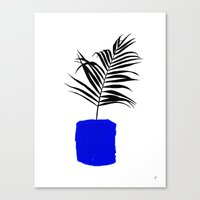 Blue Pot Canvas Print