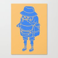 Backpacker Canvas Print