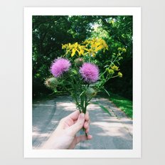 Wildflower Bouquet Art Print
