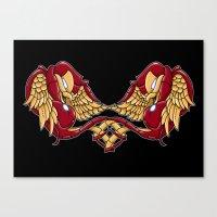 Iron Swallows Canvas Print