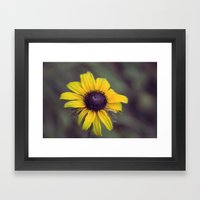 Macro Flower Framed Art Print