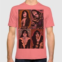 The Great Kiss Mens Fitted Tee Pomegranate SMALL