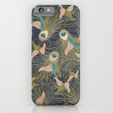 Peacock Feathers and Art Deco Print iPhone 6 Slim Case