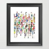 Fashionista Framed Art Print