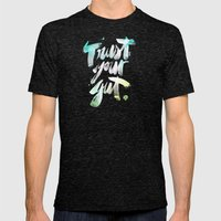 Trust Your Gut Mens Fitted Tee Tri-Black SMALL