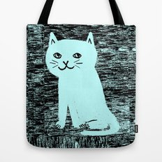 Wood grain cat Tote Bag