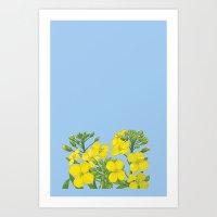 Summer flower in yellow Art Print