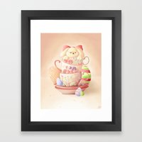 Teacup Bunny Framed Art Print