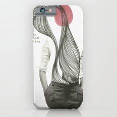 con el corazón tan suave como yo iPhone 6 Slim Case