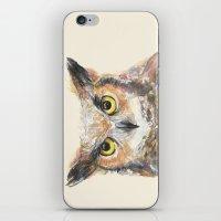 Great Horned Owl Waterco… iPhone & iPod Skin