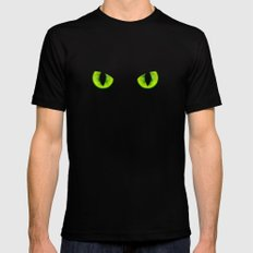 Evil eyes Mens Fitted Tee Black SMALL