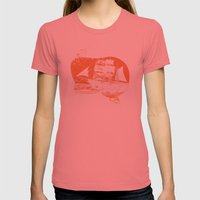 Moby Dick Womens Fitted Tee Pomegranate SMALL