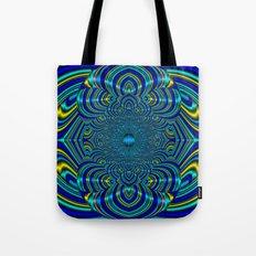 Silk Mandala II - Peace Aquamarine Tote Bag