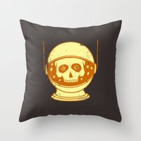 Intergalactic Cotton Bud… Throw Pillow