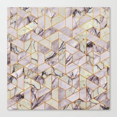 Vintage Marble Art Deco Pattern Canvas Print