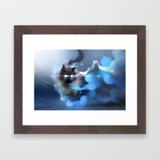 Storm Walk Framed Art Print