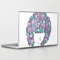 hair Laptop & iPad Skins featuring Hair by Regina Rivas Bigordá