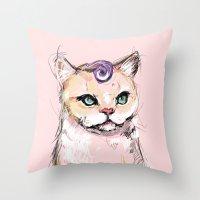 Josephine The Cat Throw Pillow