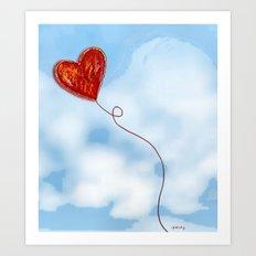 Elusive Heart Art Print