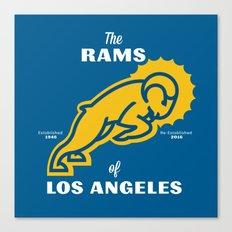 LA Rams Canvas Print