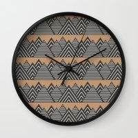 Geometric Mountain Range Wall Clock