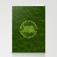 lord of the rings Stationery Cards featuring THE LORD OF THE RINGS by Bilqis