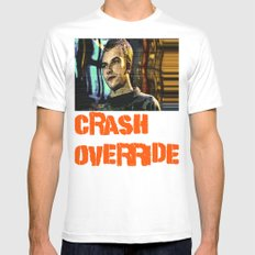 Crash Override White SMALL Mens Fitted Tee