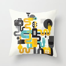 The photographer. Throw Pillow
