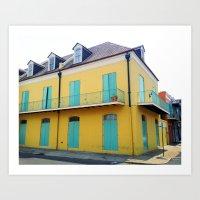 New Orleans Quarter Art Print