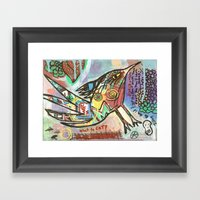 What to Eat Framed Art Print