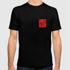 Plaid Pocket - Red Mens Fitted Tee Black SMALL