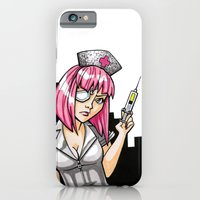 iPhone & iPod Case featuring Cotton Candy Space Nurse by Minerva Mopsy