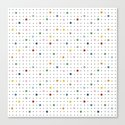 Pin Points Repeat Canvas Print