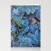 Frosted leaves Stationery Cards