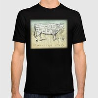 American Cuts Mens Fitted Tee Black SMALL