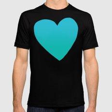 Mermaid Heart SMALL Mens Fitted Tee Black