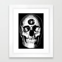 Third Eye Bones (Black and White Edition) Framed Art Print
